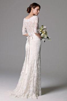 Watters Riviera Illusion Bodice Lace Wedding Dress