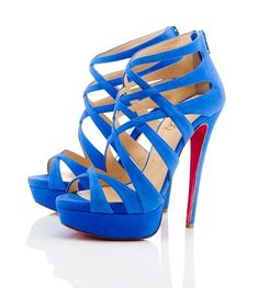 blue suede christian louboutin Shoes Oh my Louboutin Shoes Outlet, Christian Louboutin Sandals, Christian Louboutin Outlet, Louboutin Pumps, Blue Sandals, Suede Sandals, Blue Shoes, Suede Heels, Strappy Sandals