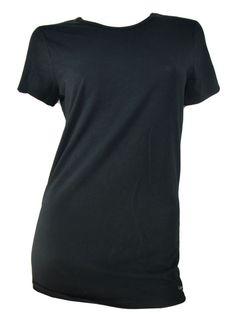 Calvin Klein Womens Crew Neck T Shirt Small Short Sleeve Black Soft NWOT #CalvinKlein #KnitTop #Casual