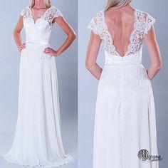 ebe2907e6baa Dyona   Svadobné šaty s krajkovým korzetom a holým chrbátom