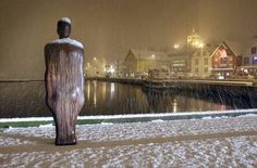 """Broken Column"" by Antony Gormley  Stavanger, Norway"
