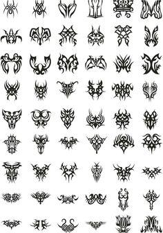 Tribal tattoo templates vector