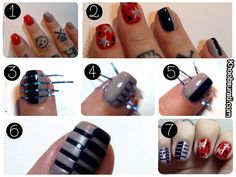 "This New Year's Eve, make your nails scream ""Let's Party""! Spruce up your nails with some great #Nail_Art ideas. #Dark_Shades are just perfect for winters - Always Elegant, Always Sexy. Go with #Choco_Brown or #Wineshade instead of red and maroons to transform your mundane look to a sensuous one.  #Beauty #Nails #FAshion #Lifestyle #Khoobsurati"