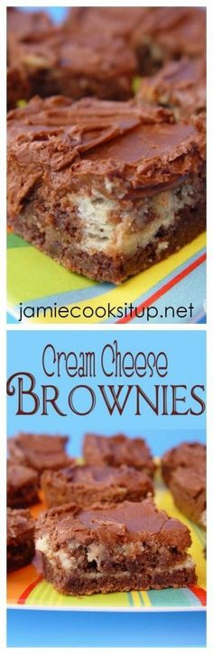 Cream Cheese Brownies from Jamie Cooks It Up! These brownies are loaded with rich chocolate flavor and a cream cheese layer that will make you weak in the knees.