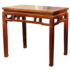 Franya Waide @ 1stdibs | Qing Dynasty Half Table with Openwork Apron $1,450