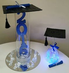 These graduation party centerpieces perfect for your high school graduation party. These are the best graduation party centerpieces to match your grad party's theme. Graduation Party Centerpieces, Graduation Party Planning, College Graduation Parties, Graduation Celebration, Graduation Decorations, Graduation Party Decor, Grad Parties, Graduation Ideas, School Centerpieces