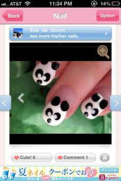 Photo of nail art contain collection of nail art designs photo. These nails art photos are beautiful and unique.These design have been collected from internet to inspire nail art lovers. Panda Bear Nails, Panda Nail Art, Animal Nail Art, Panda Bears, Panda Panda, Happy Panda, Funky Nail Art, Funky Nails, Cute Nails