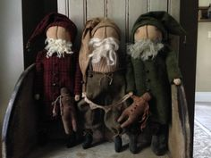 Village Primitives | Primitive Handmades Mercantile~love their woolen clothes!