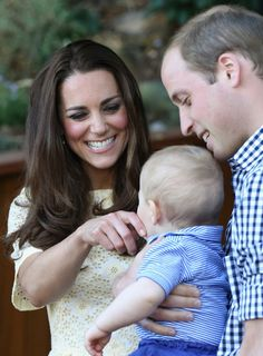 When they had this adorable moment with George. via @AOL_Lifestyle Read more: http://www.aol.com/article/2016/04/29/the-cutest-photos-of-kate-middleton-and-prince-william/20877135/?a_dgi=aolshare_pinterest#fullscreen