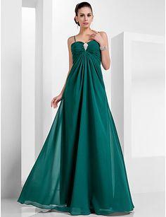 A-line Sweetheart Floor-length Chiffon Evening Dress (466612)