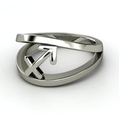 Platinum Ring  | Sagittarius Zodiac Ring | Gemvara