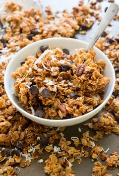 Coconut Pecan Chocolate Chip Granola (Makes for an awesome snack or breakfast) | Chef Savvy