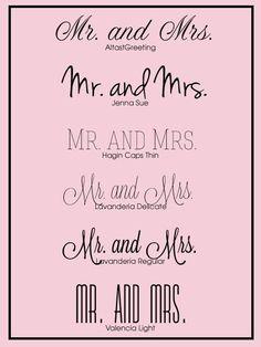 5 Free Wedding Fonts