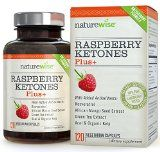 NatureWise Raspberry Ketones Plus Advanced Antioxidant Blend with Green Tea for Weight Loss 120 count