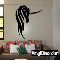 Unicorn Wall Decal - Vinyl Decal - Car Decal - DC007