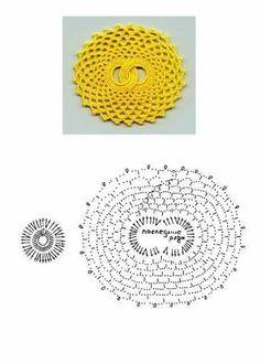 Spiral Crochet, Crochet Diagram, Crochet Squares, Crochet Motif, Crochet Designs, Crochet Doilies, Crochet Patterns, Granny Squares, Crochet Home