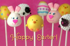 Yummy Easter cake balls!!! I am crazy about cake balls! Love this website