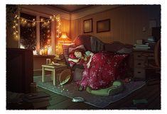 #illustration #television #cinema #series  #canape #endormi #YaoyaoMaVanAs #movie #sleeping