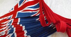 Union Jack Bunting.  Enthusiastically handmade in Great Britain. #bunting #unionjack #GreatBritain