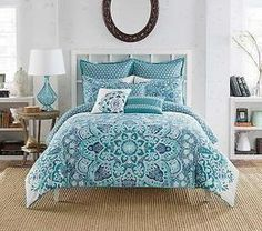 ANTHOLOGY KAYA Blue Turquoise queen full comforter set cotton 5 pieces eBay Trending Search - williammoseleyfan.net