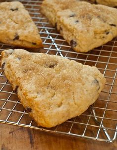 Chocolate Chip Scones. These look great! Although I don't usually bake with cake flour or heavy cream... maybe one day..