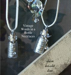 Vintage Words in a Bottle Necklace