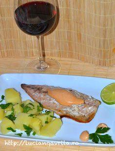 Spicy sauce #mackerel                                   Macrou cu sos picant