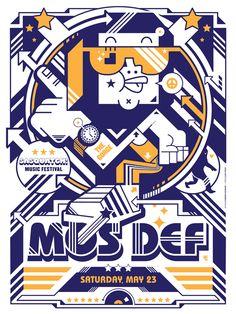 MOS DEF poster for Sasquatch music festival » Design You Trust