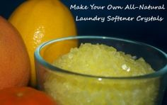 Have the SOFTEST laundry EVER by adding homemade natural laundry softener crystals to your wash! So easy!