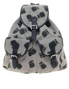 ASOS Owl Print Backpack #trend #owls #birds  @ASOS.com.com