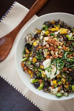 Black Quinoa Chopped Veggie Salad, photo by Melanie Grizzel | Camille Styles