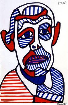 Jean Dubuffet -- Self Portrait 1966