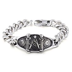 Men's Jewelry 316L Stainless Steel Religious Totem Masoni...…