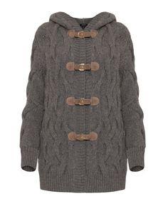 cozy gray sweater jacket