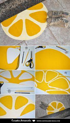 DIY: Tapete Fruta - Laranja - Casinha Arrumada
