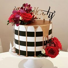 Regranned from holysuga - Throw back to one of my most popular designs that was recreated in a fair few colour variations but this one Red Birthday Cakes, Birthday Cakes For Women, 30th Birthday, Birthday Cake For Women Elegant, Pretty Cakes, Beautiful Cakes, Amazing Cakes, Bowl Cake, Birthday Cake Decorating