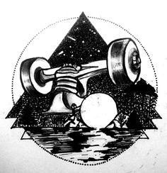 Tattoo skate diseño