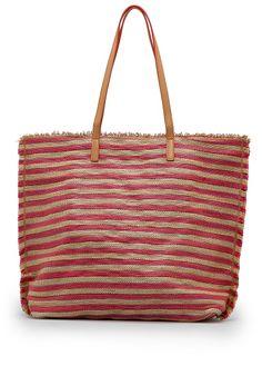 TOUCH - Striped woven shopper