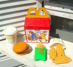 1989 Fisher Price McDonalds Happy Meal play food I remember playing with a set like this when i was a kid!