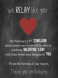 #Relay, #relay for life, valentine
