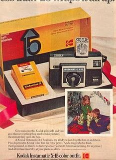 Kodak Instamatic camera.  With those fancy new square flash bulbs!