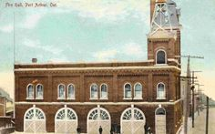 Fire Hall, Port Arthur, Post Office, Thunder, Postcards, Centre, Two By Two, Tower, Mansions
