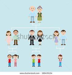family design over blue  background vector illustration - stock vector