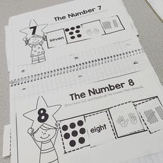 Numbers 1-10 Interactive math journal pages for special education or early childhood students