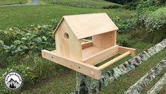 Comment fabriquer une mangeoire en bois pour les oiseaux ! DIY