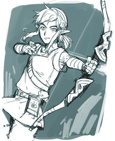 A very rough sketch of Link from BotW ~