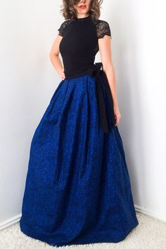 Long Skirt with bow 100% designer cotton