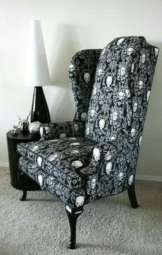 Chair with Skulls Material Covering