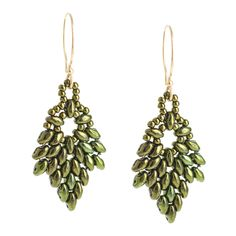 Glistening Oak Earrings | Fusion Beads Inspiration Gallery