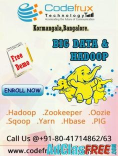 Online Hadoop Bigdata training at CodeFrux Technologies